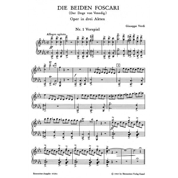 Verdi G. - Die beiden Foscari oder Der Doge von Venedig (G).