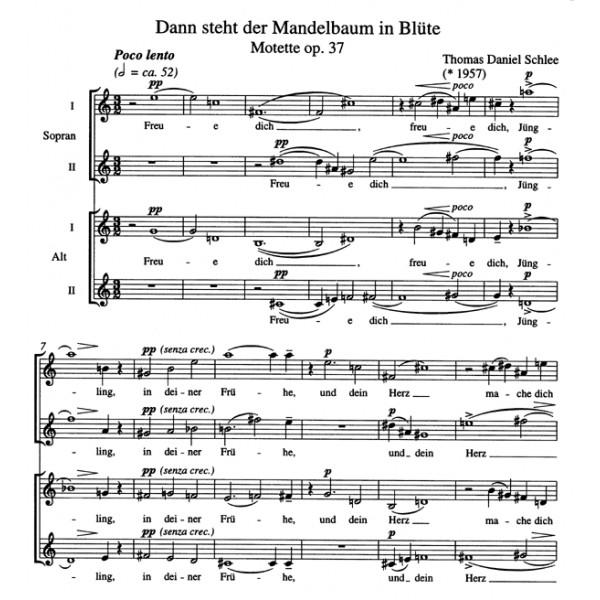 Schlee T.D. - Dann steht der Mandelbaum in Bluete. Motet op.37.