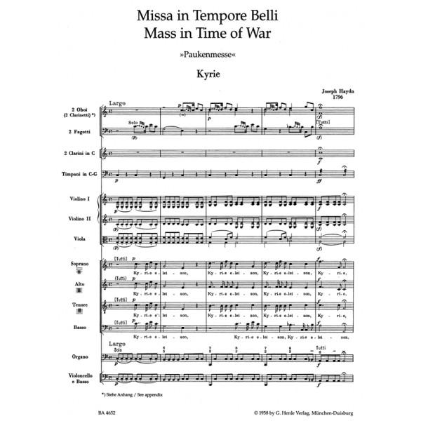 Haydn F.J. - Missa in Tempore Belli (Paukenmesse/Mass in Time of War)
