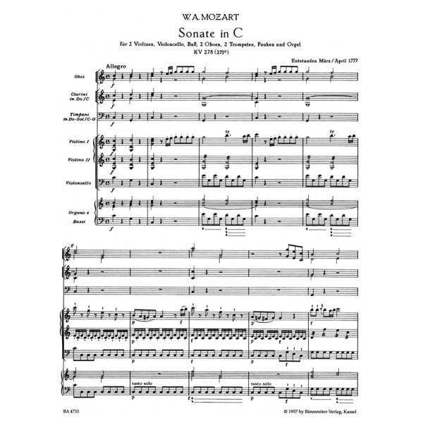 Mozart W.A. - Church Sonatas, Vol. 3/4: (K.278, 329) (Urtext).