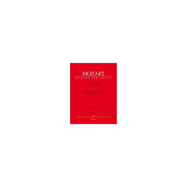 Mozart W.A. - Concerto for Violin No.1 in B-flat (K.207) (Urtext).