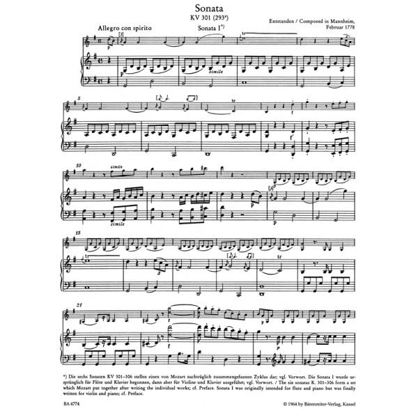 Mozart W.A. - Sonatas for Violin and Piano, Vol. 1: Mannheim, Paris, Salzburg.