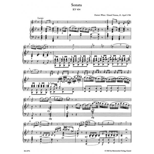 Mozart W.A. - Sonatas for Violin and Piano, Vol. 3: Late Viennese.