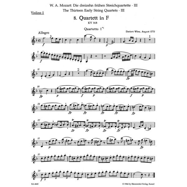 Mozart W.A. - String Quartets (Early) (13) (Urtext), Vol. 3 (K.168-170).