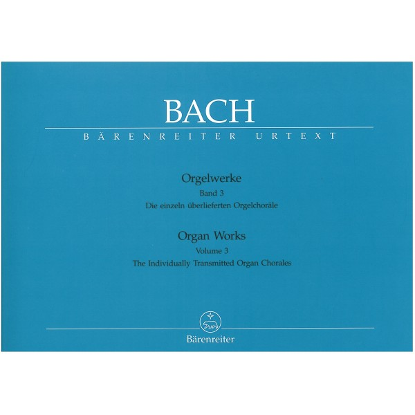 Bach J.S. - Organ Works Vol. 3: Separate Organ Chorales (Urtext).