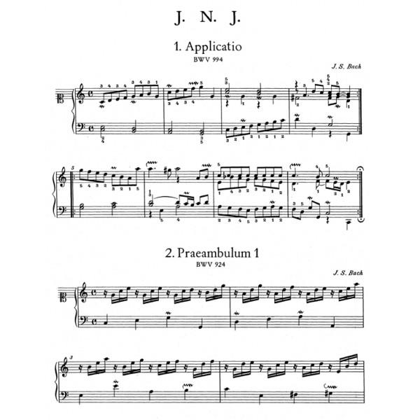 Bach J.S. - Wilhelm Friedemann Notebook (Urtext).