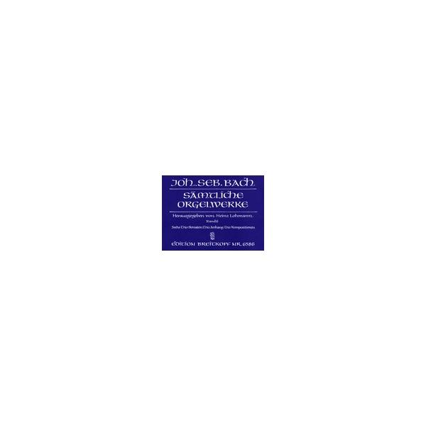 Bach J.S. - Organ Works Vol. 7: Six Sonatas & Various Separate Works (Urtext).