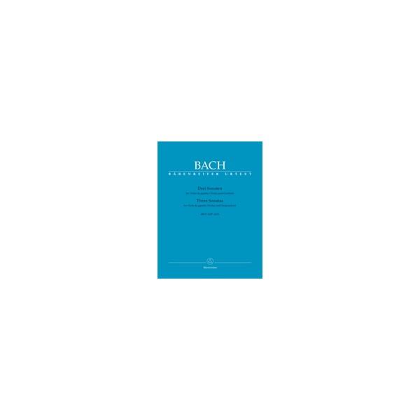 Bach J.S. - Sonatas (3) (BWV 1027 - 1029) (G maj, D maj, G min) (Urtext).