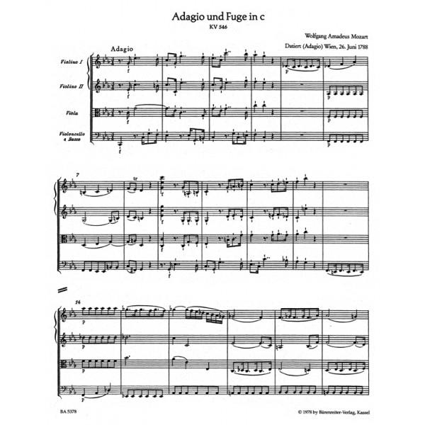 Mozart W.A. - Adagio and Fugue in C minor (K.546) (Urtext).