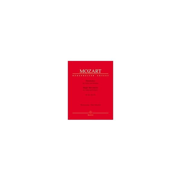 Mozart W.A. - Single Movements for Violin and Orchestra (Urtext).