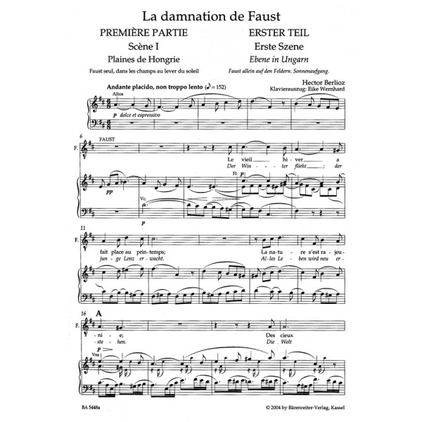 Berlioz H. - Damnation of Faust (complete) (F) (Urtext).