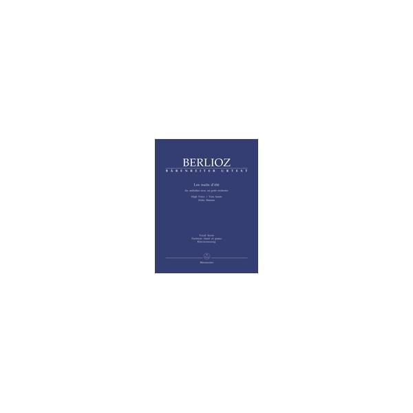 Berlioz H. - Les nuits dete.  Six melodies avec un petit orchestre (Urtext).
