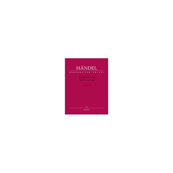 Handel G.F. - German Arias (9) (HWV 202-210)  (Urtext).