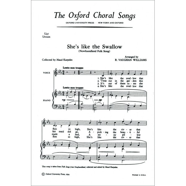 Shes like the swallow - Vaughan Williams, Ralph