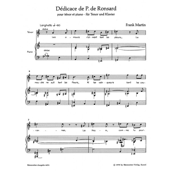 Martin F. - Dedicace de Pierre de Ronsard (F-G).