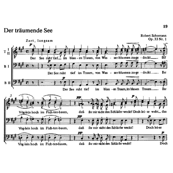 Various Composers - Kling Auf, Mein Lied, und Singe (G). Easy Settings for Male Chorus.