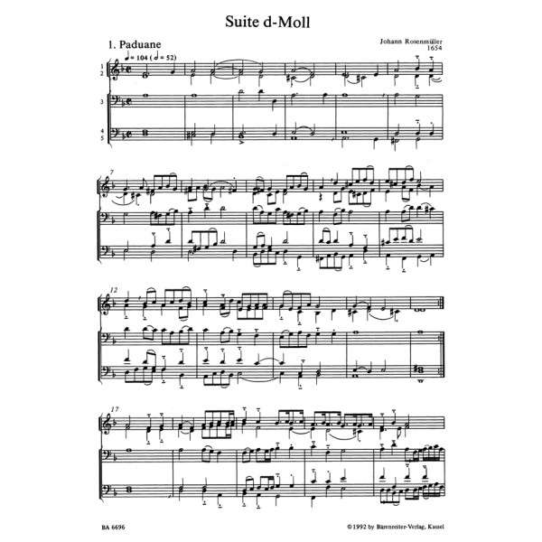 Rosenmueller J. - Intradas and Suites. Sonatas and Instrumental Movements (1654).
