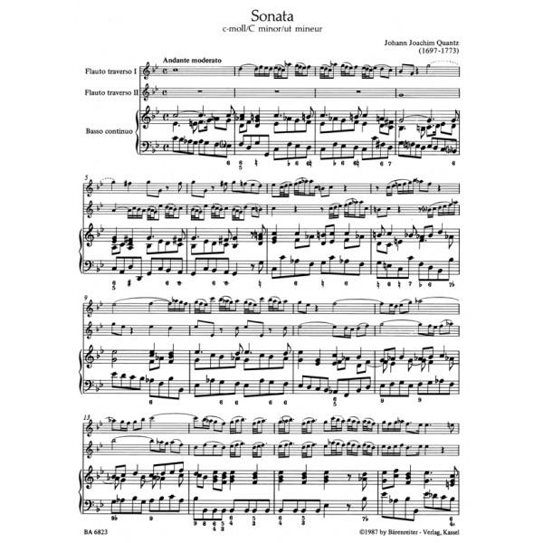 Quantz J.J. - Trio Sonata in C minor. First edition.