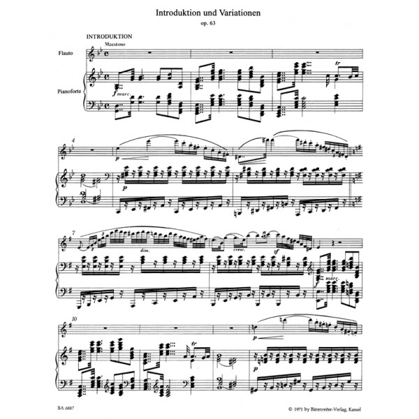 Kuhlau D.F. - Introduction & Variations Op.63 on a theme from Webers Euryanthe