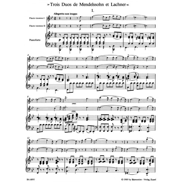 Boehm T. - Two Duets (from songs by Mendelssohn and Lachner).