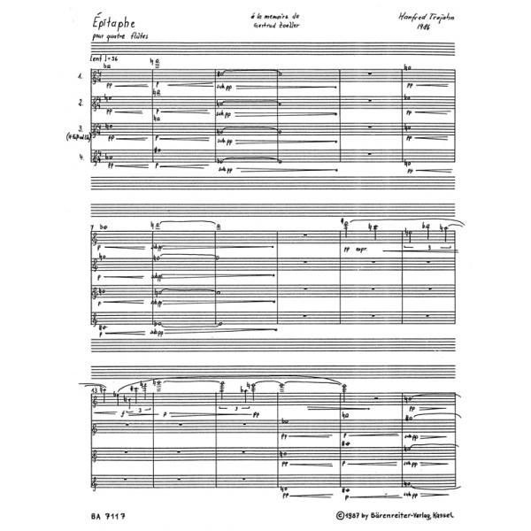 Trojahn M. - Epitaph pour quatre flutes (1986).