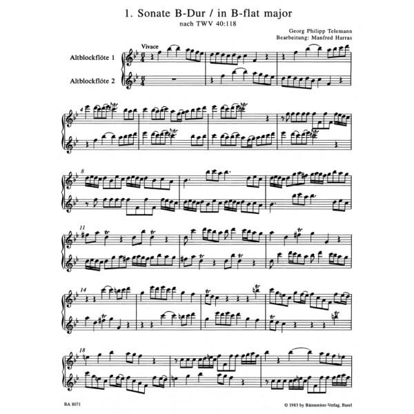 Telemann G.P. - Sonatas in Canon (6), Op.5 (after TWV 40: 118-123), Vol.1: