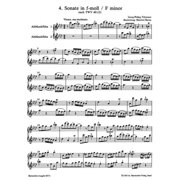 Telemann G.P. - Sonatas in Canon (6), Op.5 (after TWV 40: 118-123), Vol.2: