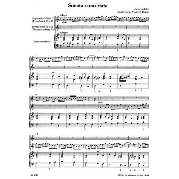 Castello D. - Sonata concertata.