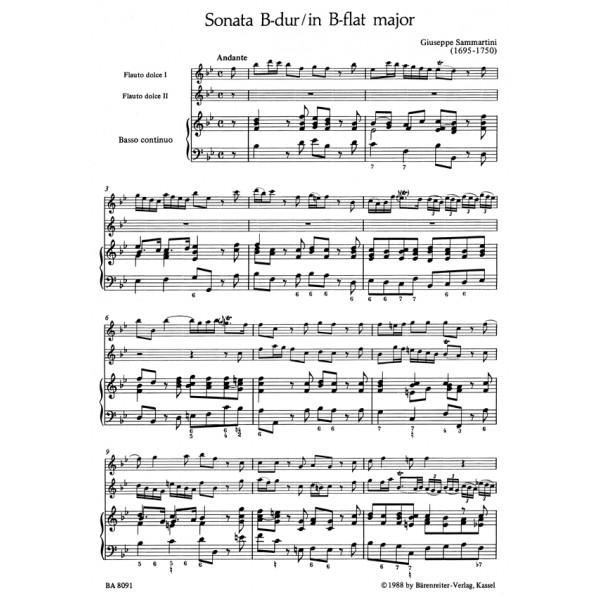 Sammartini G.B. - Trio Sonata in B-flat.