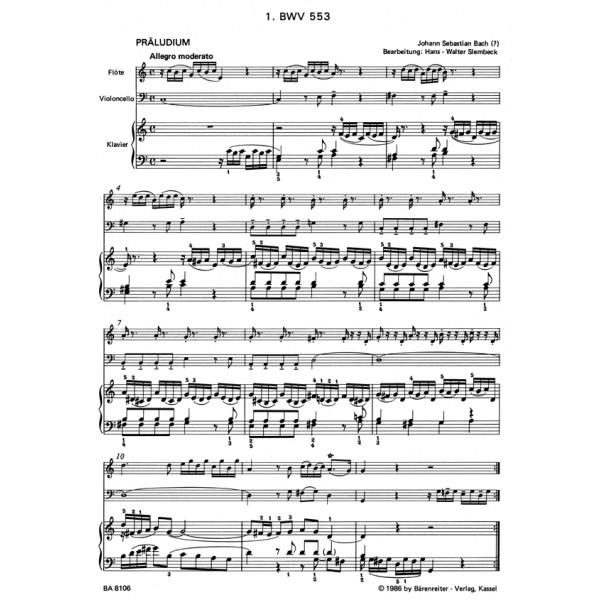 Bach J.S. - Little Preludes & Fugues (8), Vol. 1.