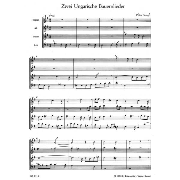 Farago P. - Hungarian Peasant Songs (2).