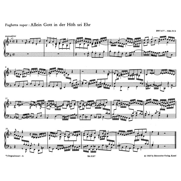 Bach J.S. - Organ Chorales for Use in Church Service.