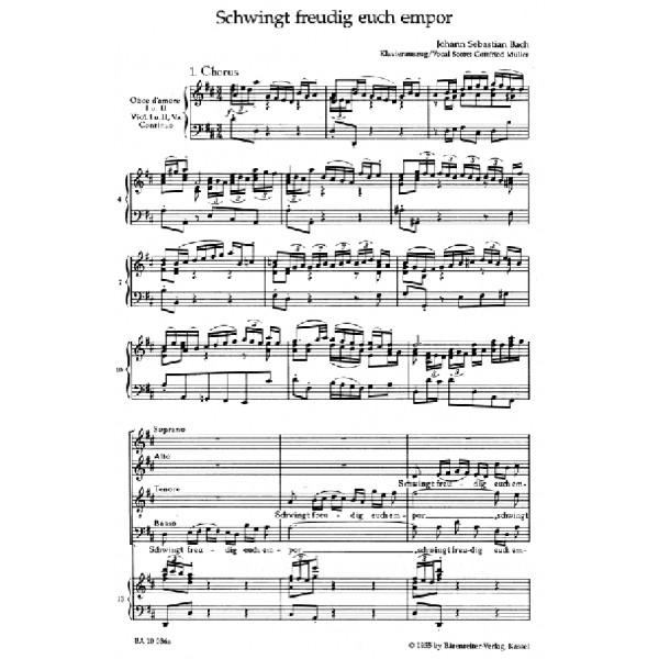 Bach J.S. - Cantata No. 36: Schwinget freudig euch empor (BWV 36) (Urtext).