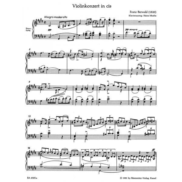 Berwald F.A. - Concerto for Violin in C-sharp minor (Urtext).