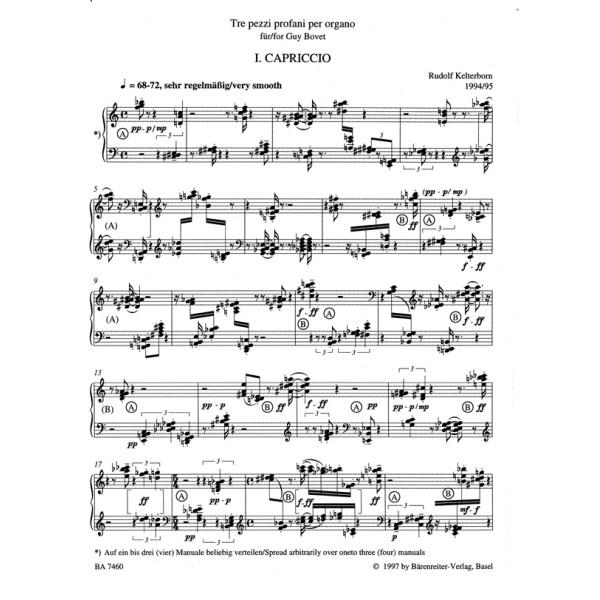 Kelterborn R. - Tre pezzi profani per organo (1994/95)