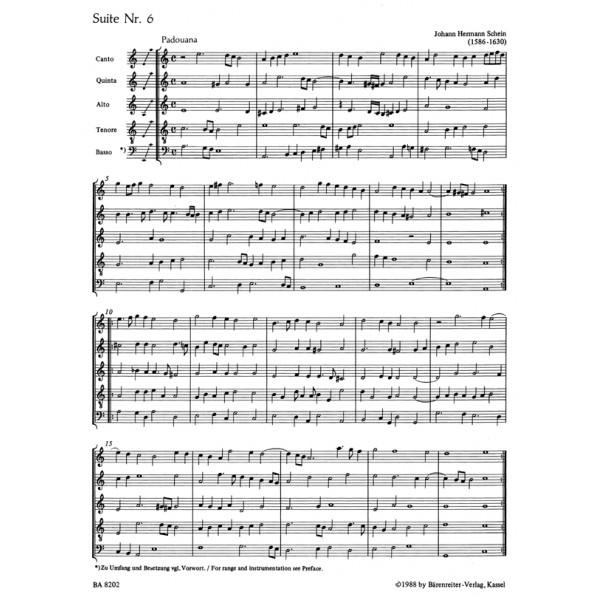 Schein J.H. - Suites No.6,10,15 (from Banchetto Musicale 1617).
