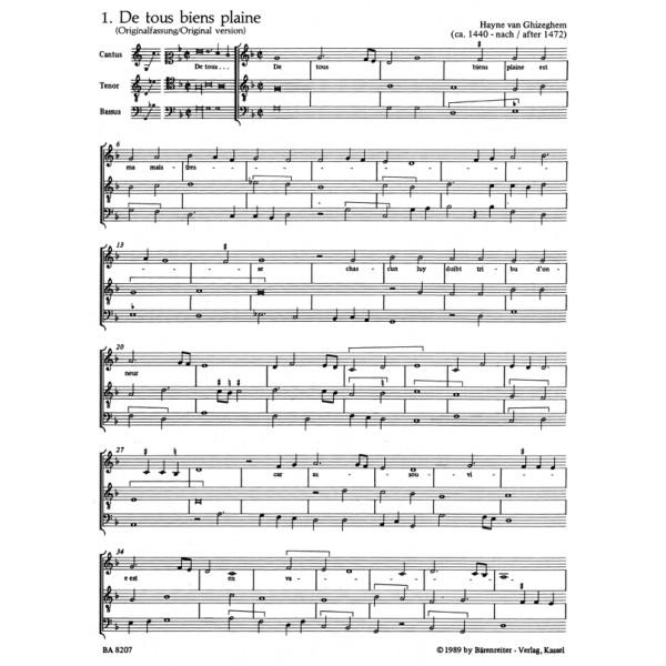 Various Composers - De tous biens plaine. Variations on a Burgundian Song.