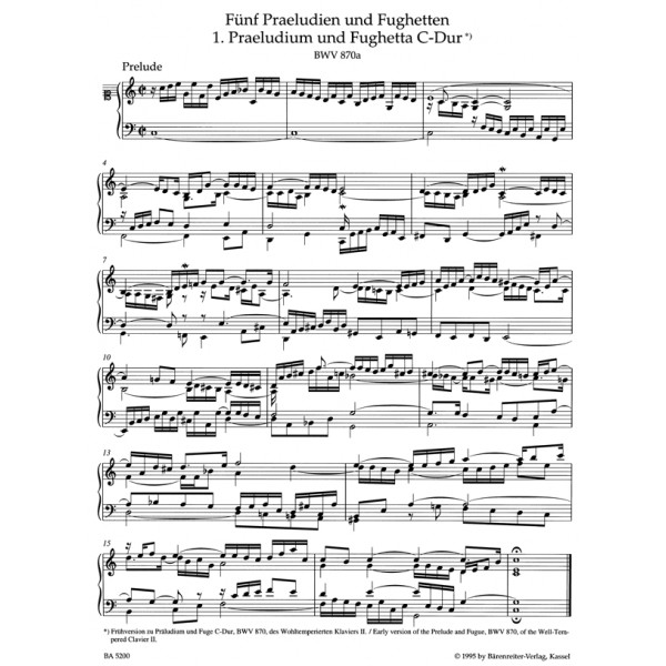 Bach J.S. - Preludes and Fughettas associated with the Well-Tempered Clavier II