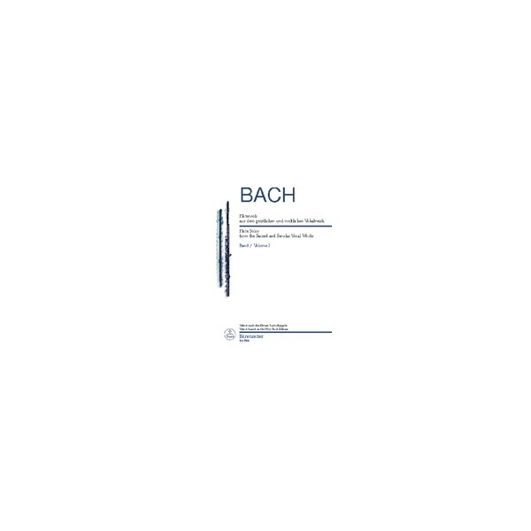 Bach J.S. - Flute Solos from the Sacred and Secular Vocal Works Vol.2 (Urtext).