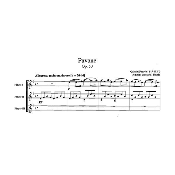 Faure G. - Pavane, Op.50 arranged for 3 Flutes.