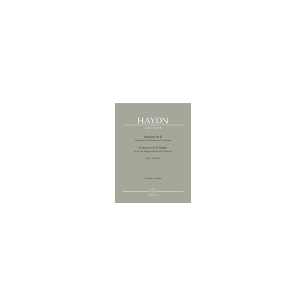 Haydn F.J. - Concerto for Piano (Harpsichord) in D (Hob.XVIII:11) (Urtext).