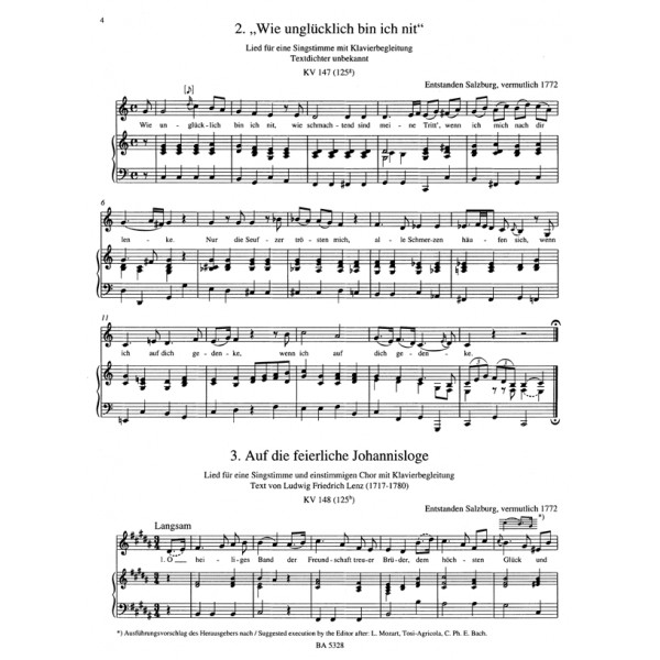 Mozart W.A. - Songs for Medium Voice, Complete (Urtext).
