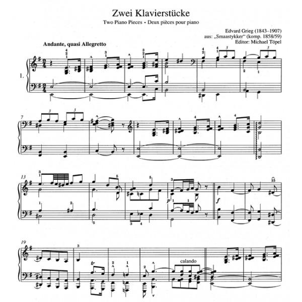 Grieg E.H. - Easy Piano Pieces and Dances.