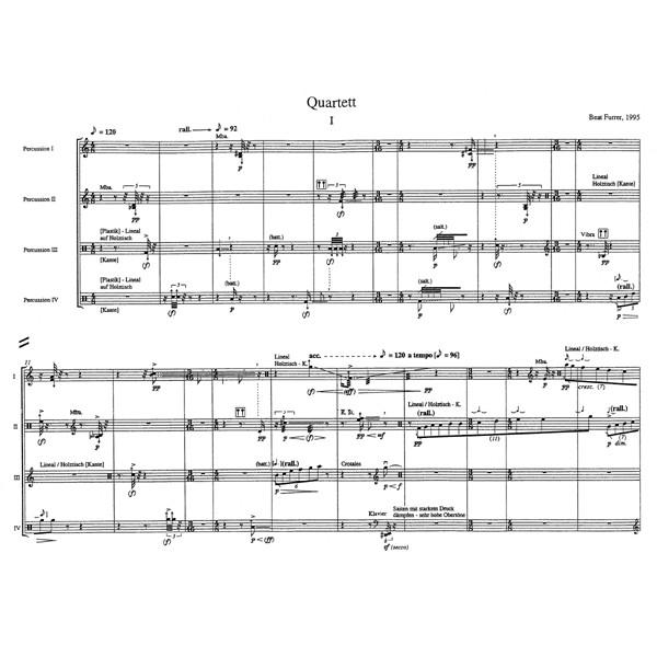 Furrer B. - Quartet for Percussion (1995).