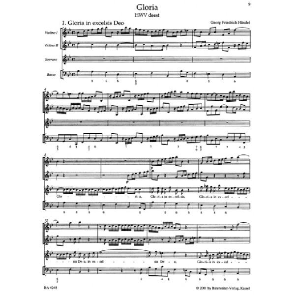 Handel G.F. - Gloria (HWV deest) (It) (Urtext).