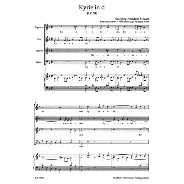 Mozart W.A. - Kyrie in D minor (K.90) (Urtext) (L).