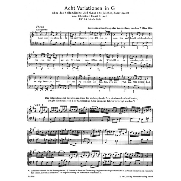 Mozart W.A. - Variations for Piano Complete (Urtext).