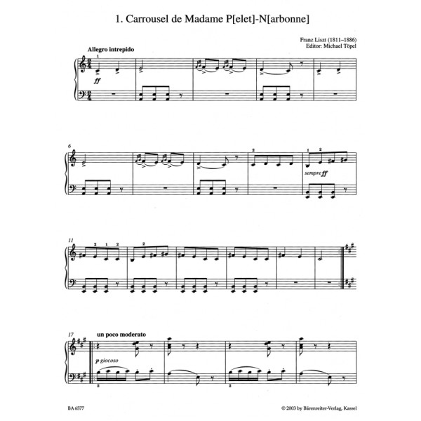 Liszt F. - Easy Piano Pieces and Dances.
