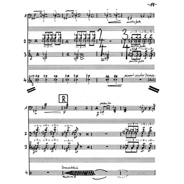 Klebe G. - Percussion Quartet, Op.126 (1997).