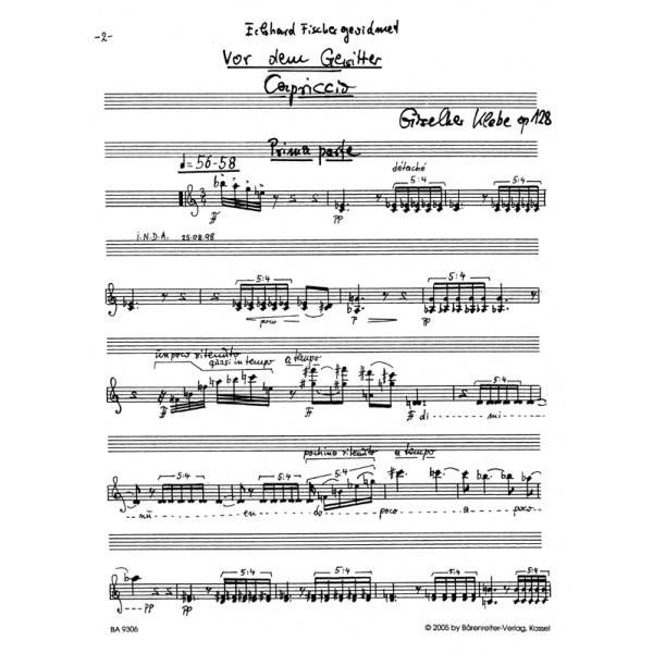 Klebe G. - Vor dem Gewitter Op.128.  Capriccio for Violin solo.